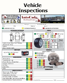 Vehicle Inspections, Multipoint Inspections, Pre-Sales Inspections